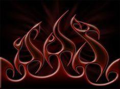 Flames RednBlack by DigitalPhenom on DeviantArt Airbrush, Cow Skull Art, Custom Motorcycle Paint Jobs, Thanks For The Compliment, Flame Art, Garage Makeover, Blue Flames, Cool Wallpaper, Custom Paint