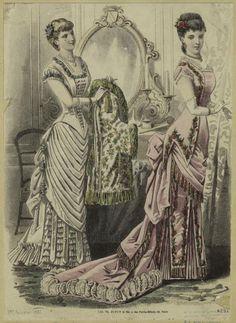 Fashion plate, 1881 France