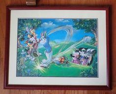 Framed Warner Bros. Looney Tunes Open Golf Art Print Bugs Bunny Daffy & Gang