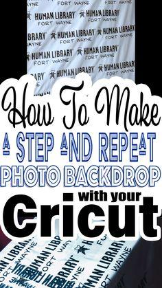 Step and Repeat Photo Backdrop with The Cricut Upgrade je feest met een door Cricut gemaakte, DIY-fotoachtergrond. Je evenement is compleet wanneer je meest gus foto's maakt tijdens je evenement. Inkscape Tutorials, Cricut Tutorials, Cricut Craft Room, Cricut Vinyl, Diy Photo Backdrop, Backdrop Background, Photo Backdrops, Cricut Help, Budget Planer