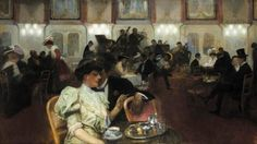 "Alfons Karpiński (1875 - 1961) ""Koncert w kawiarni"", 1907"