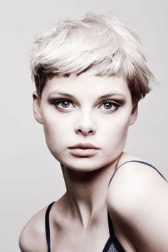 New hair short cuts pixie fringes ideas Edgy Haircuts, Cute Haircuts, Layered Haircuts, Pixie Haircuts, Short Hair With Bangs, Short Hair Cuts, Pixie Cuts, Hair Bangs, Short Hairstyles For Women