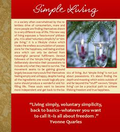 Simple Living, Voluntary Simplicity, Christmas, Winter, Hanukkah, Candles, Pine Trees, Snow, Lights, Yvonne Quarles, Quotes