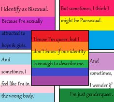 Sometimes I identify as pansexual and other times asexual, like I don't want to have sex, that makes me uncomfortable no matter how many times I joke about it, but I like legit everyone so idk Lgbtq Flags, Lgbt Memes, Lgbt Love, Genderqueer, Lgbt Community, Gay Pride, Feelings, Rainbows, Pride Merch