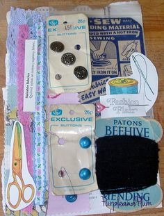 Vintage sewing inspiration pack by PurpleandPlumcrafts on Etsy