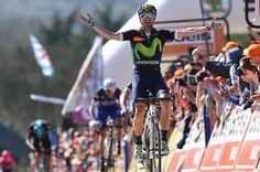 Alejandro Valverde (Movistar) wins the 2016 Fleche Wallonne, Alaphilippe was 2nd & Dan Martin 3rd.