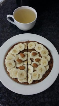 Breakfast today. Warm ginger & honey, a wholewheat roti (flatbread) cooked in 1/2 tbsp of coconut oil. Topped with 1 tbsp of almond butter and banana slices. #cleaneating #healthy #healthyrecipes