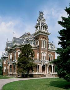 The Vail Mansion epitomizes the massive grandeur that the Second Empire style can achieve. Built in 1881, in the heartland of Independence, Missouri,