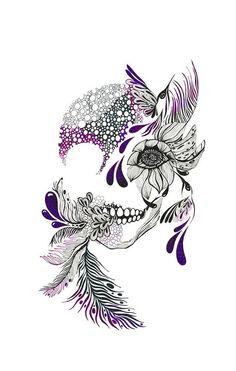 Drawing skull