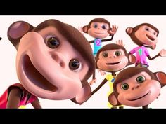 FIVE LITTLE MONKEYS | Nursery Rhymes and Kids Songs from Merry Music Box - YouTube