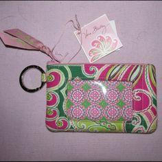 Vera Bradley wallet zip ID case in pinwheel pink Vera Bradley Pinwheel Pink…