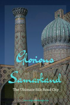 Samarkand is perhaps the ultimate Silk Road city. A city that once sat at the crossroads of multiple trades routes leading to exotic locations such as China, India and Perisa. A city whose name is full of magic, wonder and romance. A city where brilliant aqua domes push towards clear skies. A city with some of the most amazing architectural sights in the whole world