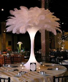 Designer Centerpieces - Ostrich feathers gallery and prices