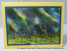 Lovely as a tree card by France Martin with Northern Lights... includes link to tutorial