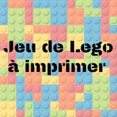 Petit jeu de société Lego à imprimer