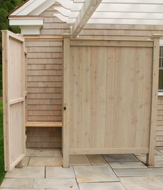 wash off after a swim in the beach or pool with a shower that you build - How To Build An Outdoor Shower