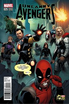 Uncanny Avengers #25 Deadpool 75th variant by Khoi Pham<br />