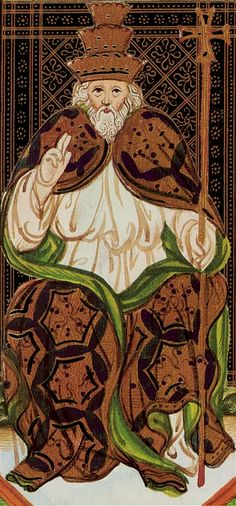 The Hierophant - Visconti Tarot