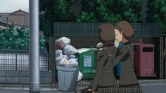 Yu Narukami putting the trash where it belongs