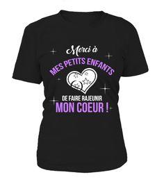 Tshirt  MERCI À MES PETITS ENFANTS  fashion for men #tshirtforwomen #tshirtfashion #tshirtforwoment