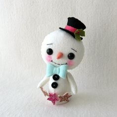 Snowbies pdf Pattern by Gingermelon on Etsy