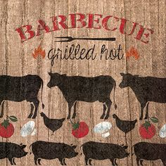 IHR Grilled Hot Chicken Pork Beef Pig Cow BBQ Printed 3-Ply Paper Luncheon Napkins Wholesale L600300