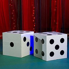 Keep your party rollin  with these giant cardboard dice! Casino Party  Decorations, Casino 5a9349d3ee50