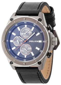 Police Watches, Watch 2, Breitling, Grey, Leather, Clocks, Accessories, Collection, Casio Watch