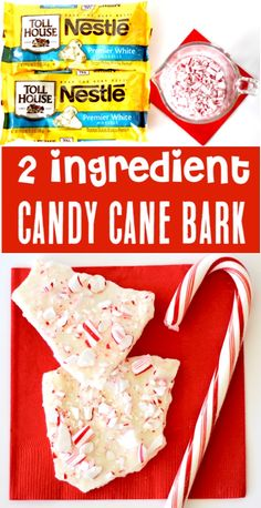Just 2 ingredients and you've got the EASIEST Christmas dessert ever! You can even make extras to give as a gift in a jar! Go grab the recipe and give it a try! Christmas Treats To Make, Christmas Desserts Easy, Holiday Treats, Christmas Bark, Christmas Recipes, Christmas Goodies, Simple Christmas, Holiday Parties, Autumn Desserts