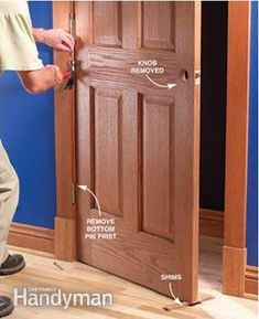 Fix tight doors by tightening hinges and jambs—sanding is a last resort.