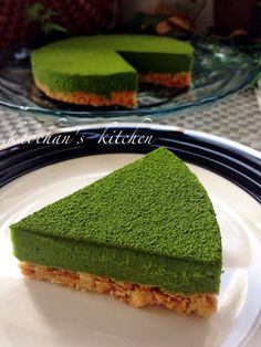 Oven not used * Easy * Rich * Matcha raw chocolate tart * Green Tea Dessert, Matcha Dessert, Matcha Cake, Sweets Recipes, Cooking Recipes, Cute Food, Yummy Food, Green Tea Ice Cream, Gastronomia