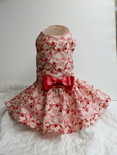 Valentines Day Dog / Cat Harness Dress Custom by AllAboutMadison, $20.95