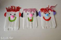 ** Zuckersüße Äpfel **: Butterbrotpapier-Handpuppen...(DIY)