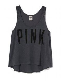 PINK NEW! Lace Strap Yoga Tank #VictoriasSecret http://www.victoriassecret.com/pink/tees-and-tanks/lace-strap-yoga-tank-pink?ProductID=104382=OLS_mmc=CJ-_-2205077-_-10537318-_-Product%20Catalog?cm_mmc=pinterest-_-product-_-x-_-x