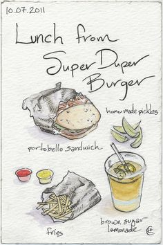Lunch from Super Duper Burger