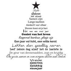 Muursticker tekst kerstboom (zwart) - Eenvoudig aan te brengen op elke goed schoongemaakte (stof en vetvrije) gladde ondergrond. Met uitgebreide gebruiksaanwijzing. Vochtig afneembaar. Afmetingen:   M:49x57 cm L:57x66 cm