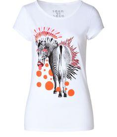 Marc By Marc JacobsT-shirt Coton Blanc Imprimé Zèbre Multicolore