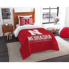 Ncaa Nebraska Cornhuskers Modern Take Bedding Comforter Set, Red