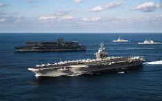 Descargar fondos de pantalla American portaaviones USS Theodore Roosevelt, el USS Ronald Reagan, el USS Nimitz, CVN-76, CVN-71, CVN-68, barcos de guerra, la Marina de los EEUU, estados UNIDOS, portaaviones nuclear
