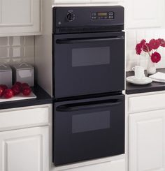 GE JRP28BJBB 24' Black Electric Double Wall Oven >>> You can get more details by clicking on the image.