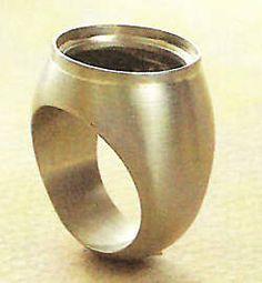 [Ganoksin] Jewelry Making - Advanced Project - Hollow Cabochon Ring #jewelryartist #jewelrymaking