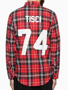 "Flannel shirt ""Tisci"" from the Les (Art)ists collection in red"