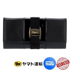 セール★コンチネンタル長財布★パテント/カーフ【フェラガモ】