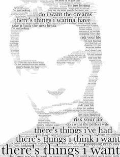 Kelly Jones. Made using the lyrics from Just Looking by Stereophonics.