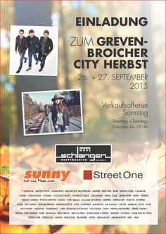 Wenn am Samstag die UNION BRASS Band aus Venlo in Grevenbroich eintrifft, ist dies ein sicheres Startsignal für den Grevenbroicher CityHerbst 2015. Vor Ihnen liegen jetzt zwei erlebnisreiche Shoppi...