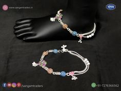 Sangam Traders provide you the latest trendy design of Bombay fancy silver payal under the category of foot jewelry for casual and party wear Payal Designs Silver, Silver Anklets Designs, Silver Payal, Gold Mangalsutra Designs, Anklet Designs, Royal Jewelry, Silver Jewelry, Silver Heels Wedding, Sterling Silver Toe Rings