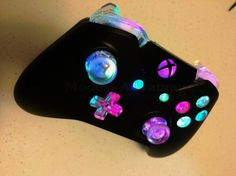 Xbox 360 E Holiday Value Bundle [Xbox - Xbox 360 - Ideas of Xbox 360 - Xbox One controller full color changing LED mod Custom Xbox One Controller, Xbox Controller, Control Ps4, Wii, Manette Xbox One, Arcade, Video Game Rooms, Video Games, Minecraft
