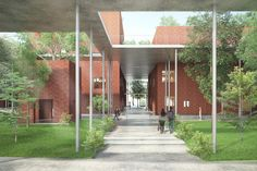Gallery of VTN Architects' Brick Training Complex Will Create Its Own Microclimate Using 'Sky Walks' - 2