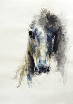 """Saatchi Art Artist: Benedicte Gele; Pastel Drawing """"Alerte V"""""""