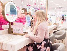 Loving the feminine pink decor at Riley Rose!